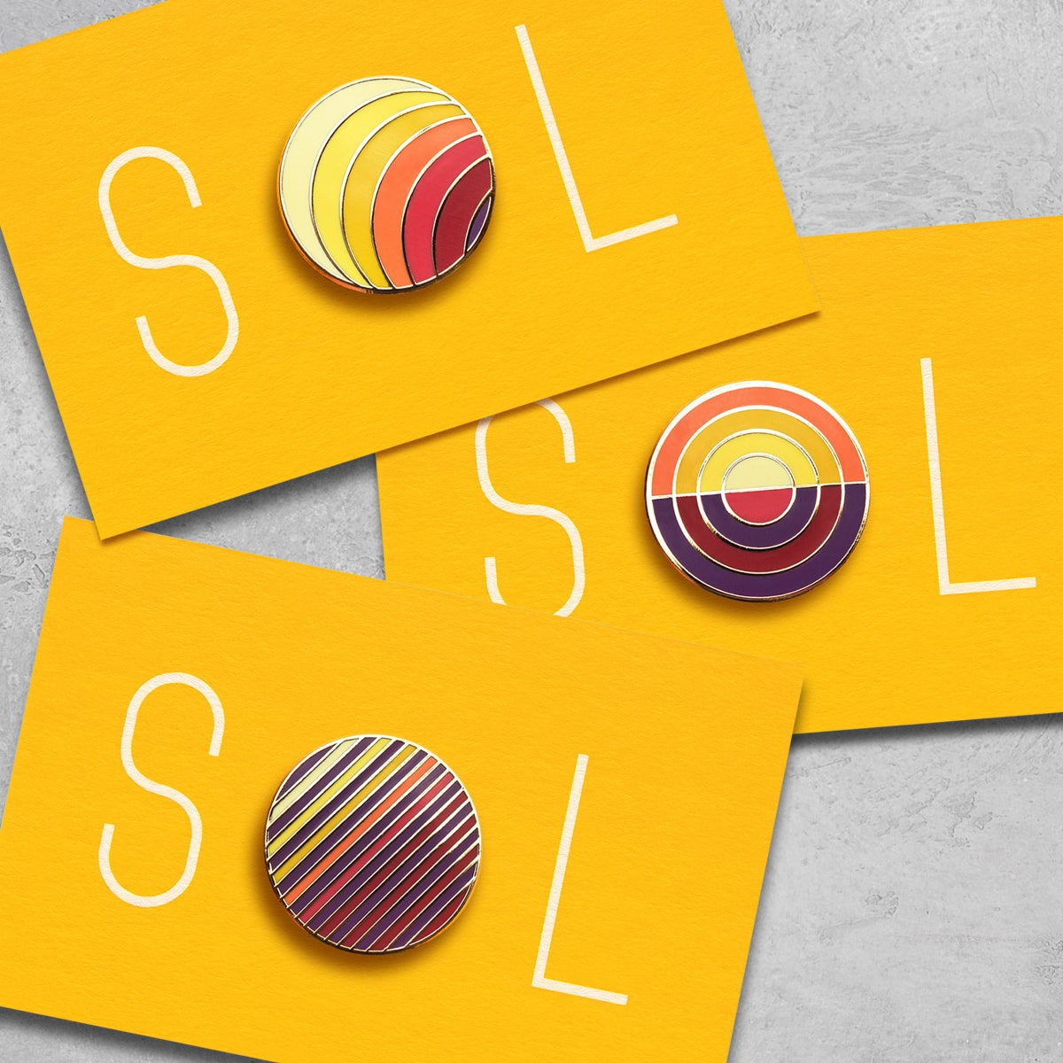 Image of SOL Hard Enamel Pin Badges