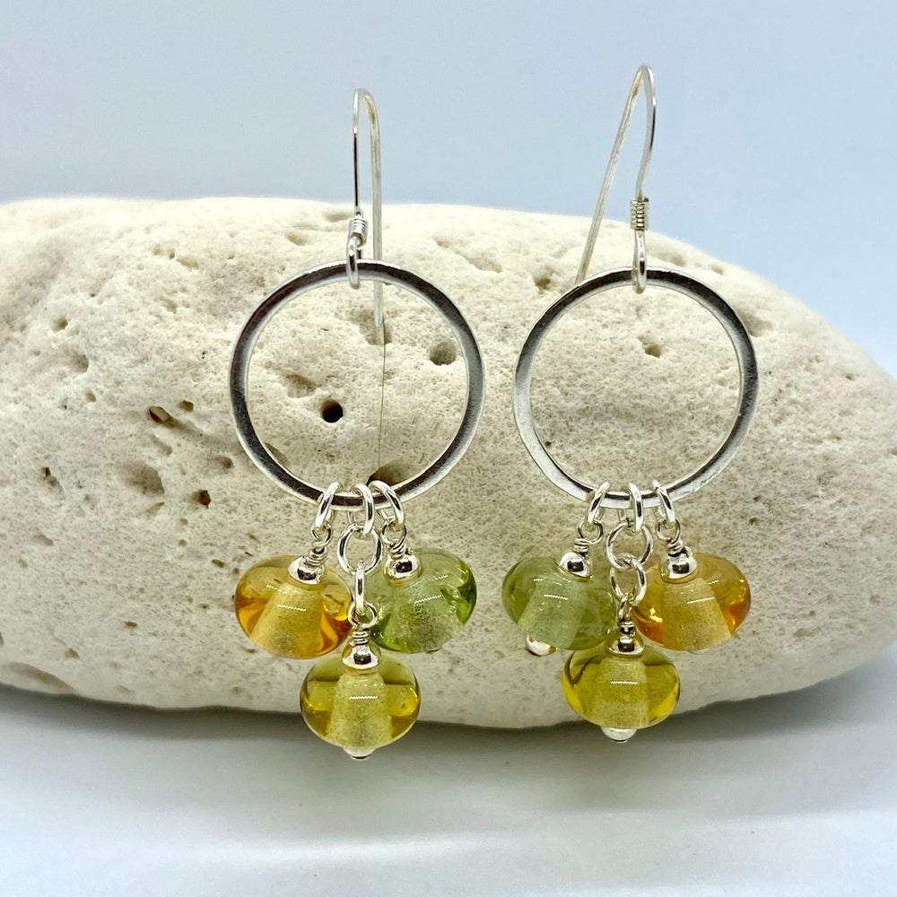 Image of Honeybee Triple Earrings