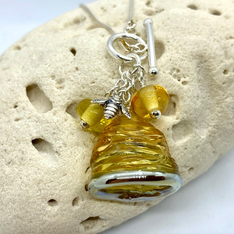 Image of Honeybee Toggle Necklace