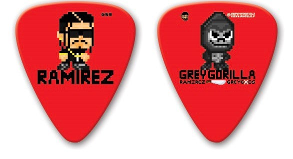 Image of Ramirez (Limited Edition) Red Double-Sided Guitar Pick
