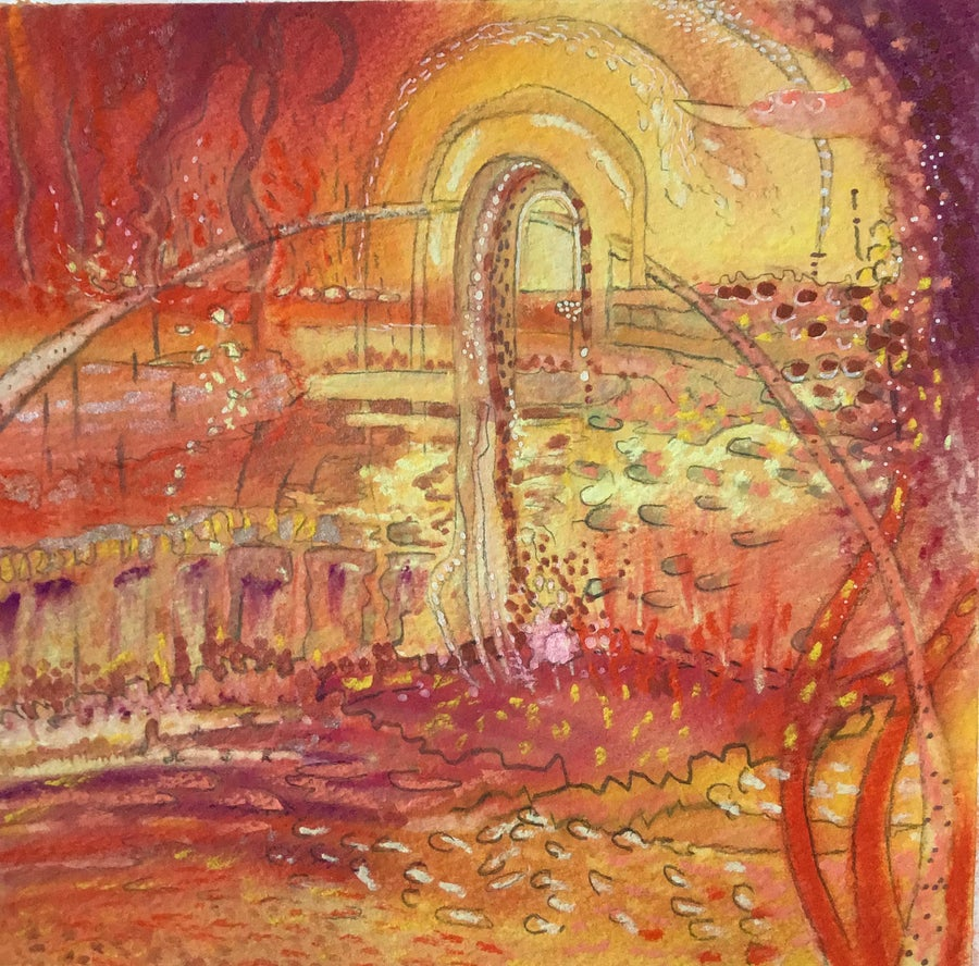 Image of Abstract Drawing Portal Series: INFERNO