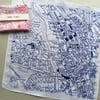 Cardiff Vintage Map Hankie