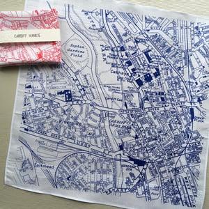 Image of Cardiff Vintage Map Hankie