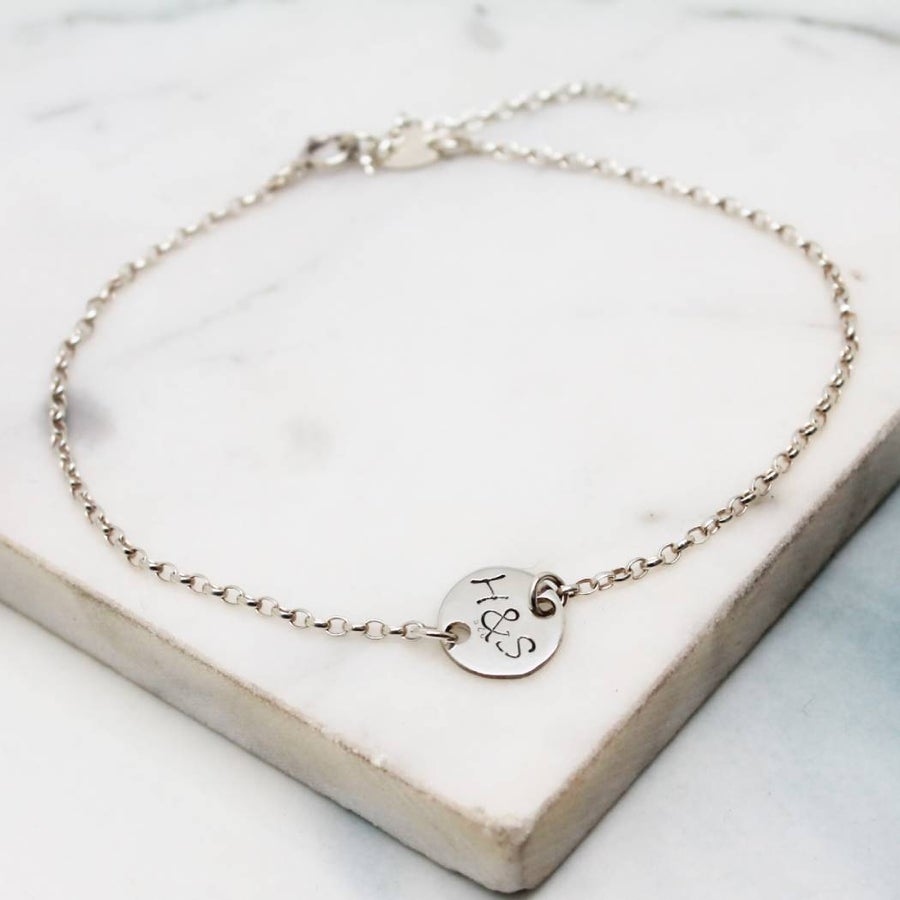 Image of Personalised Small Disc Bracelet