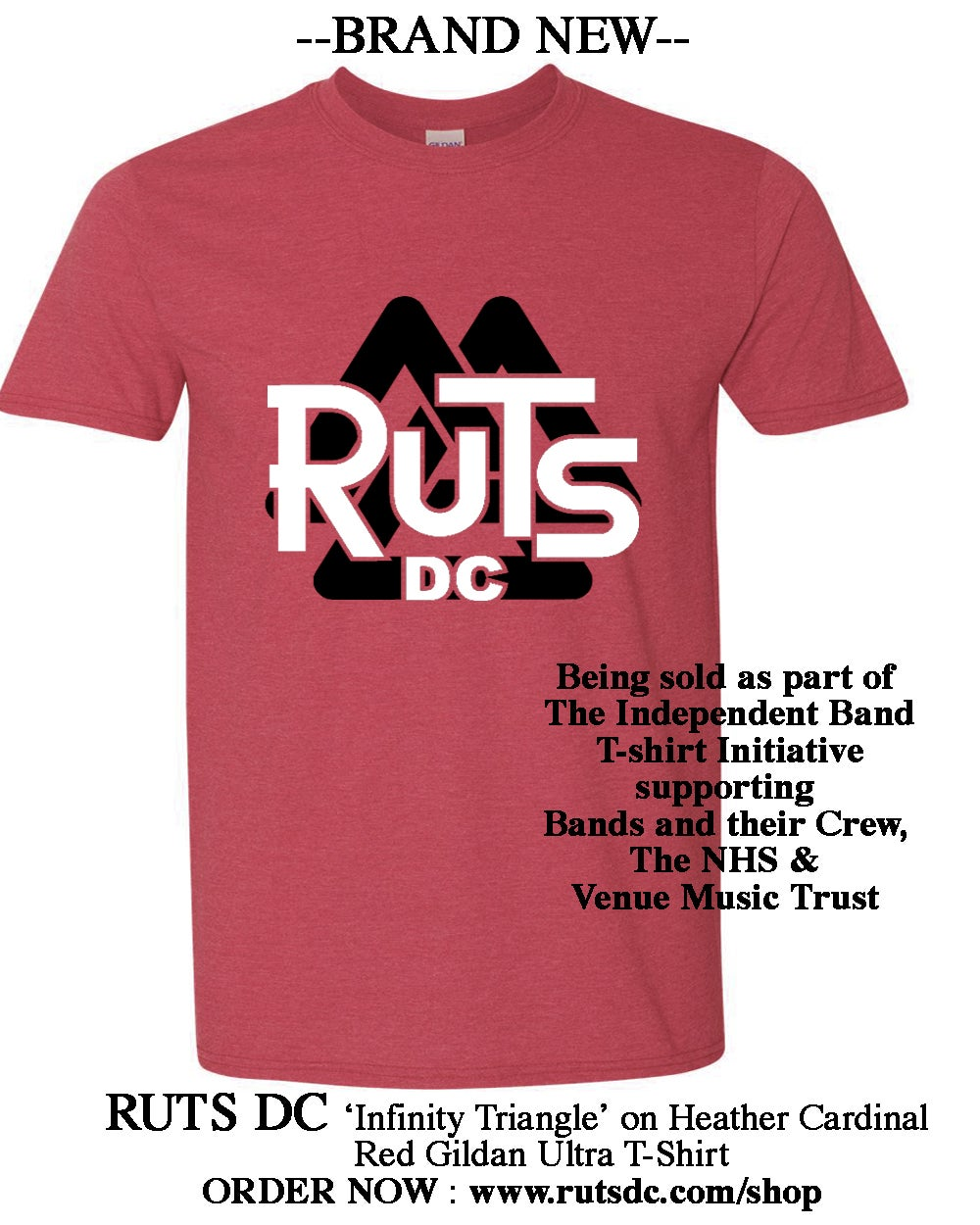 Image of BRAND NEW - RUTS DC 'Infinity Triangle' T-shirt