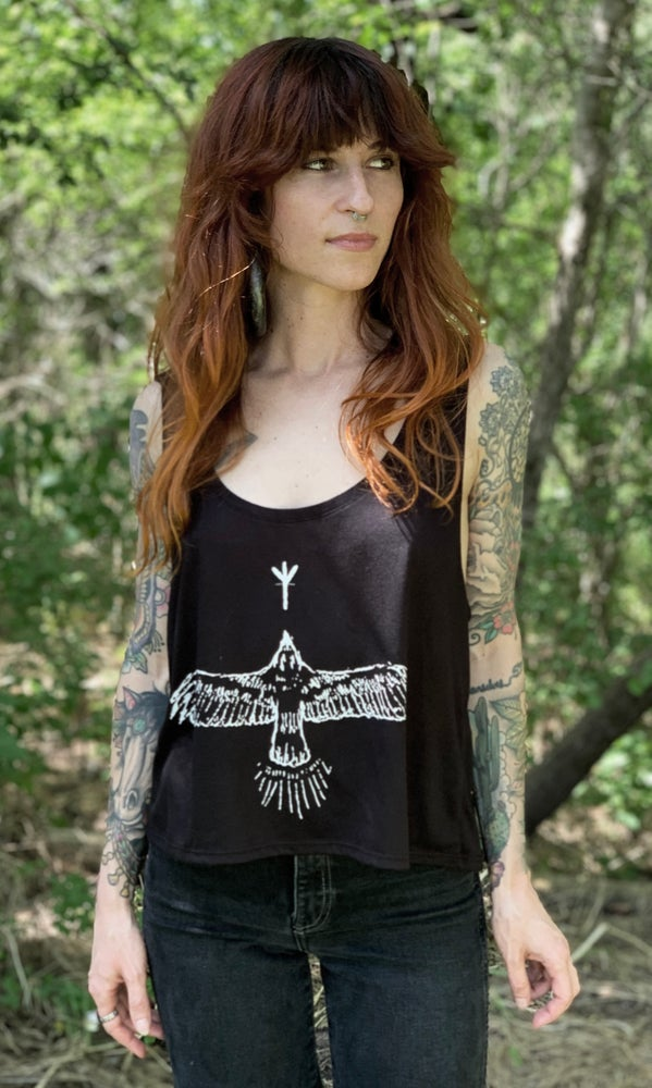 Image of HAWK FLOWY CROP TANK