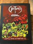 Image of OBITUARY 18x24 silk screened poster