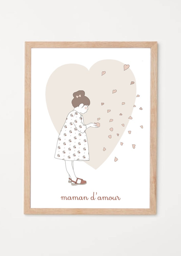 Image of Affichette Maman d'amour cœur