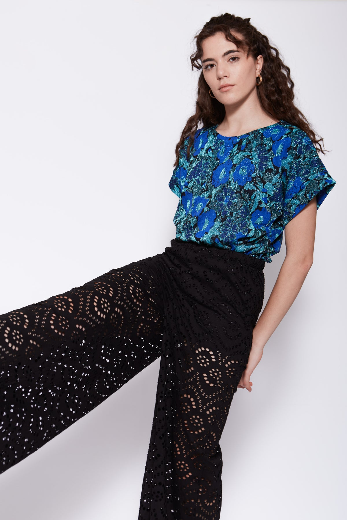 Image of T-SHIRT MALIA FIORI BLUETTE €125 - 50%
