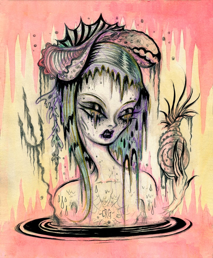 "Image of ""Despina-Swamp Mermaid"" Limited Edition print"