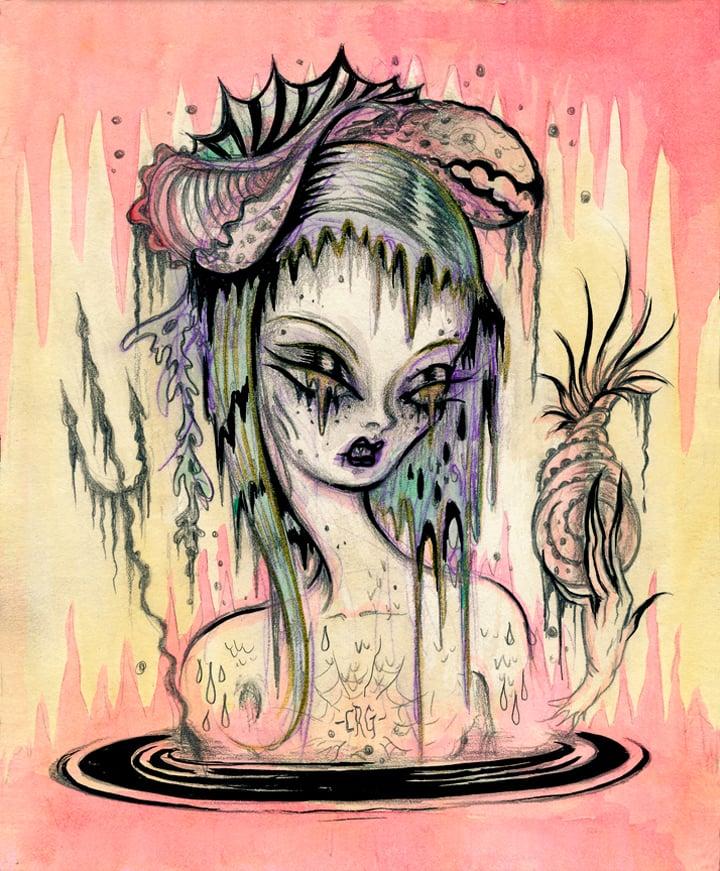 "Image of ""Despina-Swamp Mermaid"" Limited Edition print"