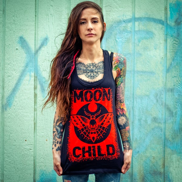 Image of Moon Child  (Racerback Woman's Tank)