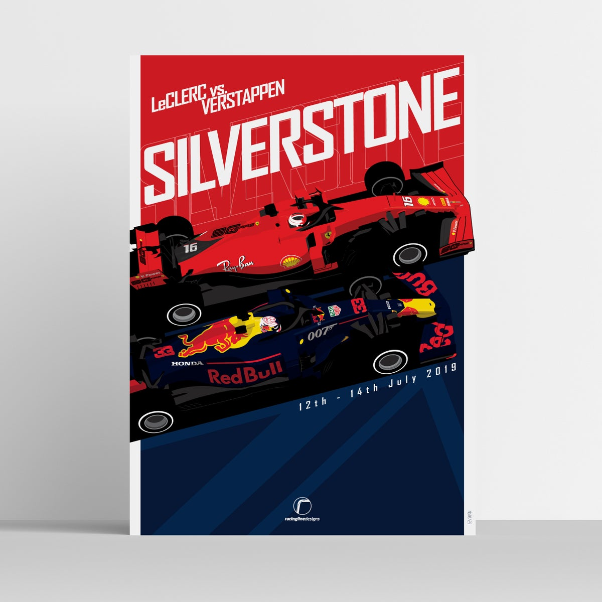 Image of LeClerc vs Verstappen | Limited Edition Race Posters