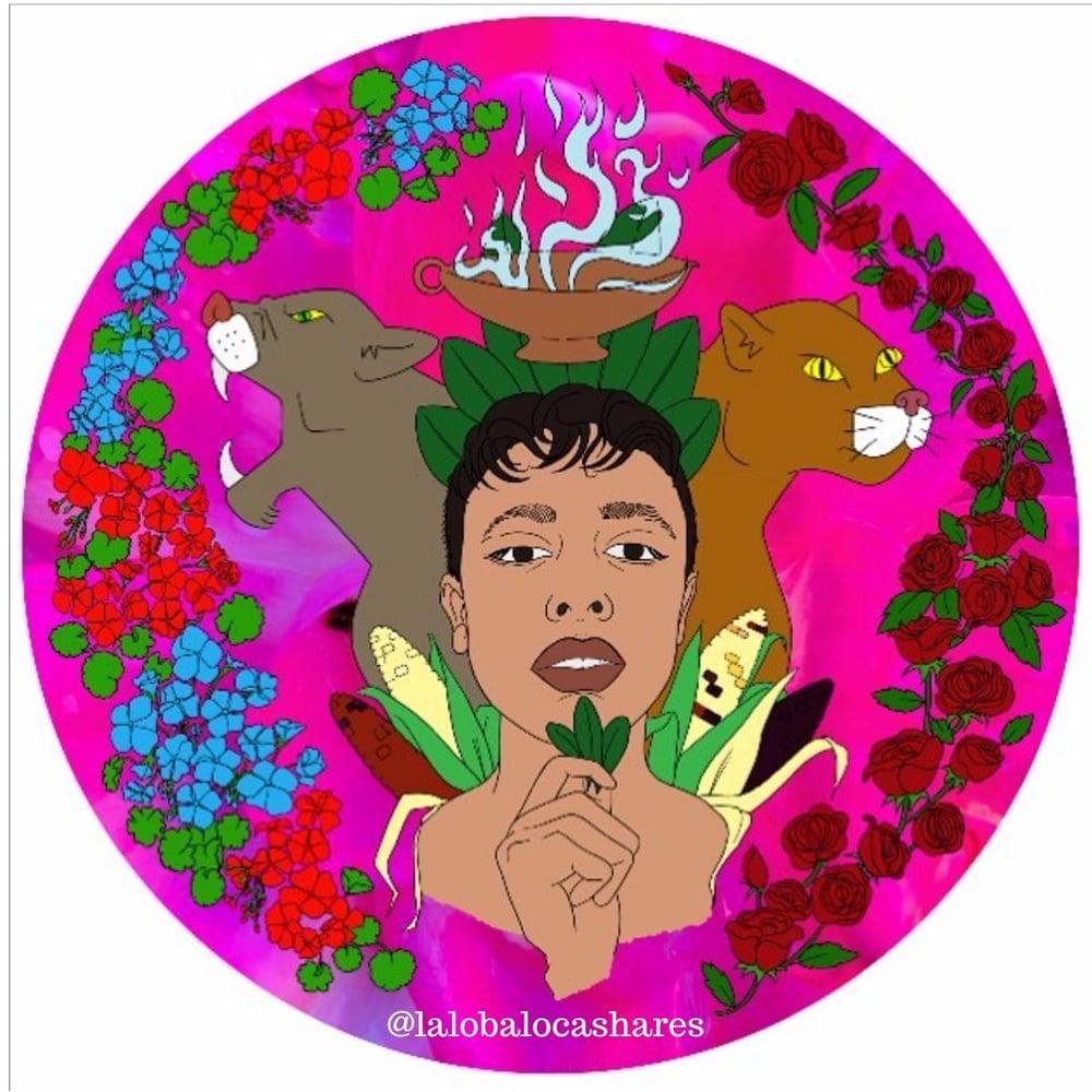 Image of La Loba Loca 3*3 sticker