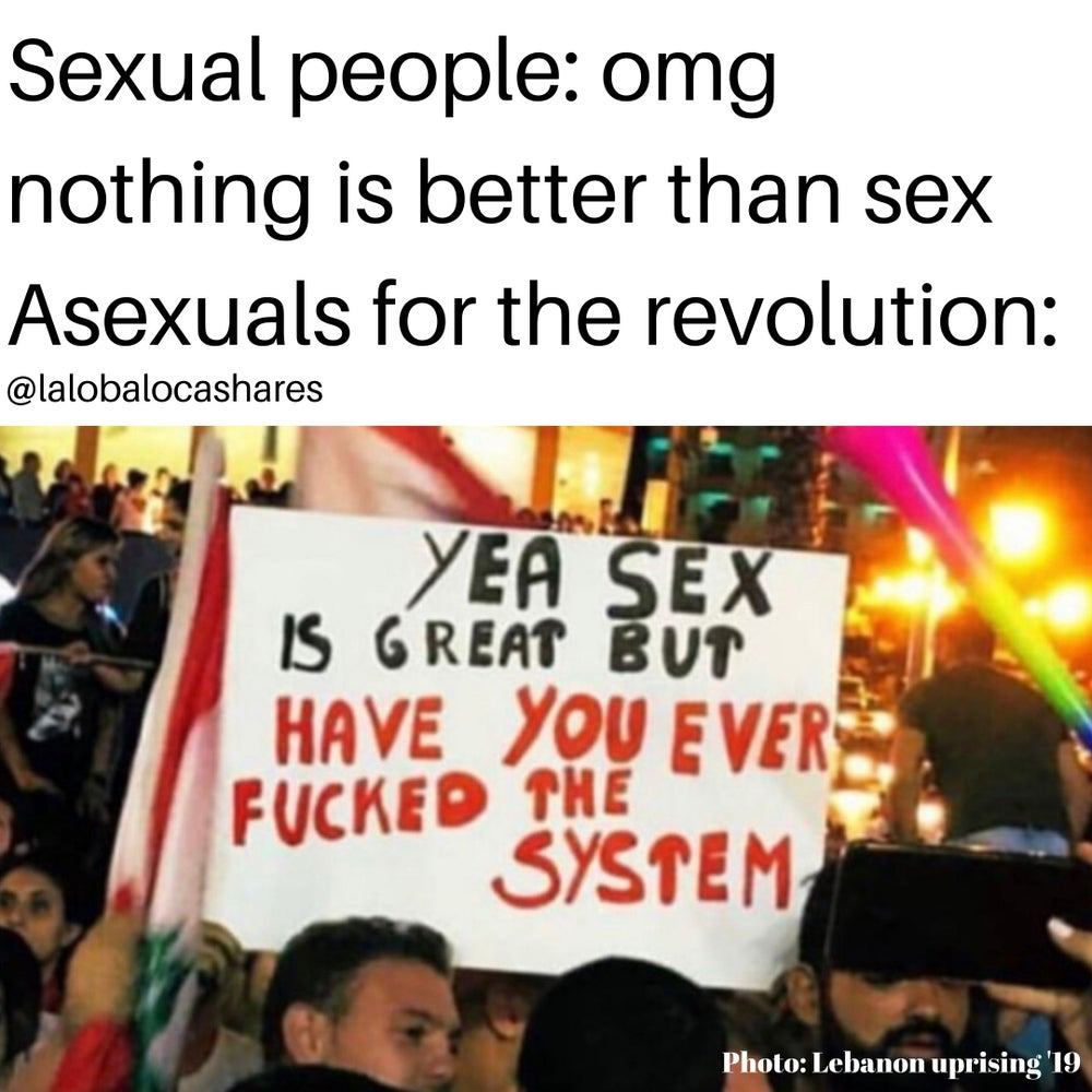 Image of Asexuals for the revolution 3*3 sticker