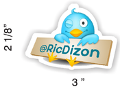Image of 2011 Twitter Name Tag Badge: Blue or Pink