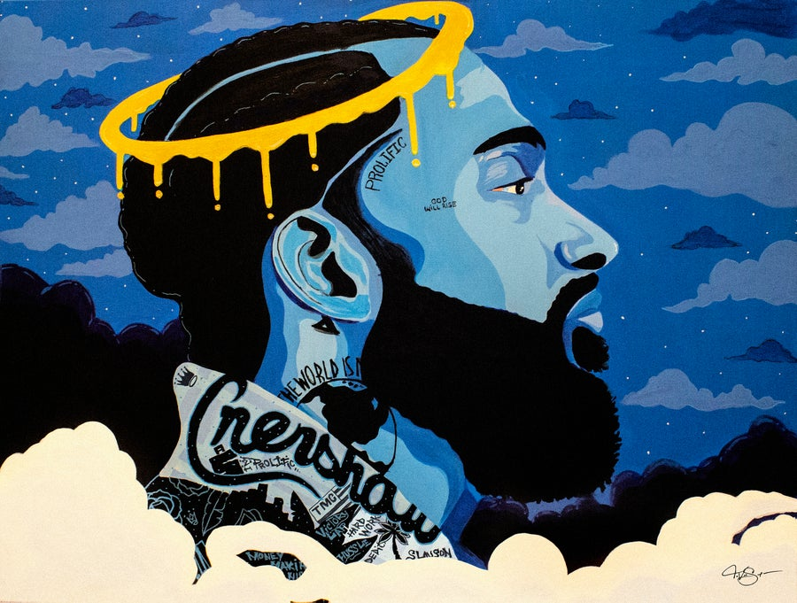 "Image of ""NIPSEY"" 18x24 Limited edition print"
