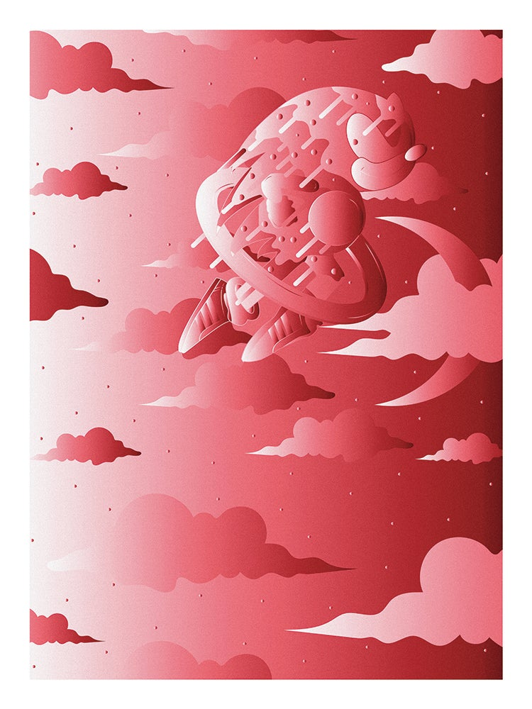 "Image of ""SONIC"" SPECIAL EDITION POSTER PRINTS (RED)"
