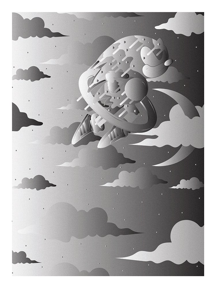 "Image of ""SONIC"" SPECIAL EDITION POSTER PRINTS (GRAY)"