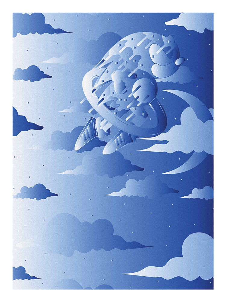 """Image of """"SONIC"""" SPECIAL EDITION POSTER PRINTS (BLUE)"""