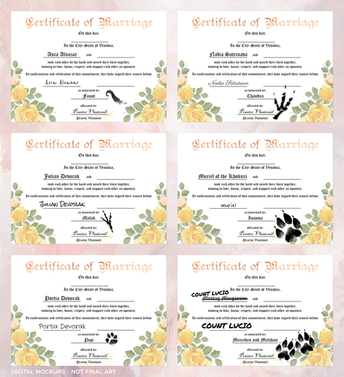 Image of The Arcana - Wedding Certificate Kit