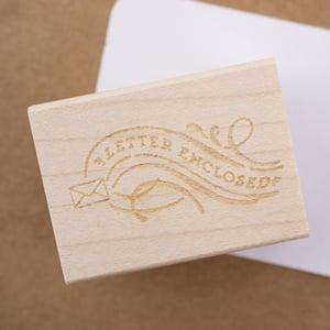 """Letter Enclosed"" Rubber Stamp"