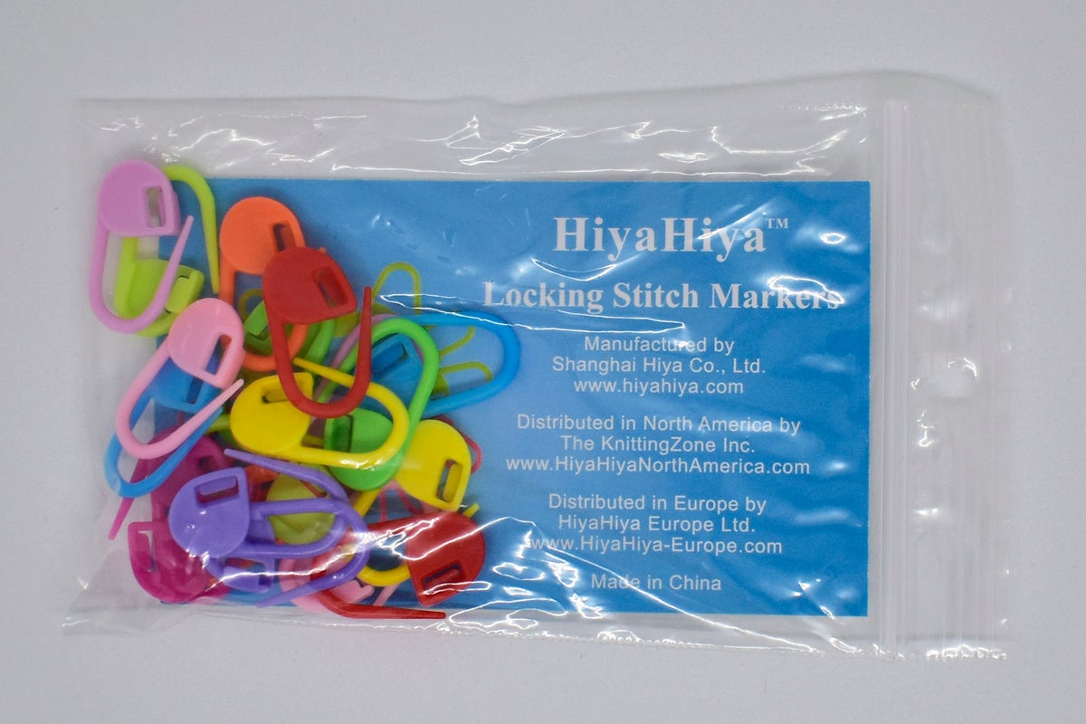 HiyaHiya multi-coloured locking stitch markers