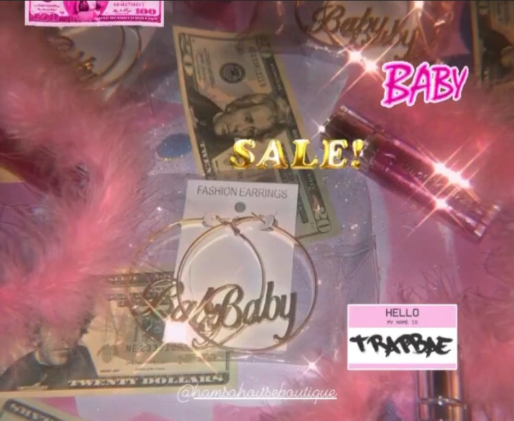 Image of Gold Baby Hoops