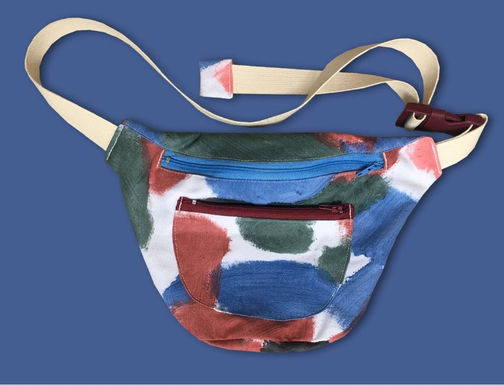 Image of COLOR PAINTED WAIST BAG / painting