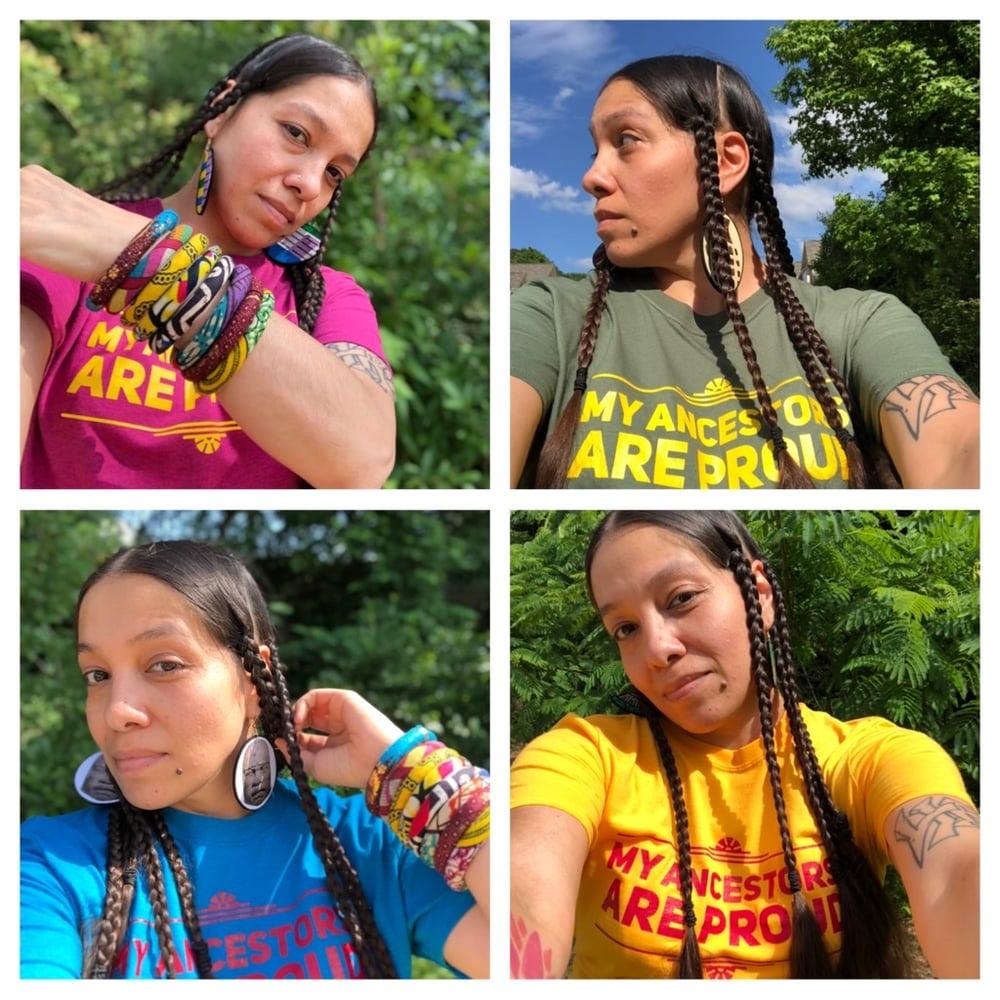 Image of my ancestors are proud t-shirt