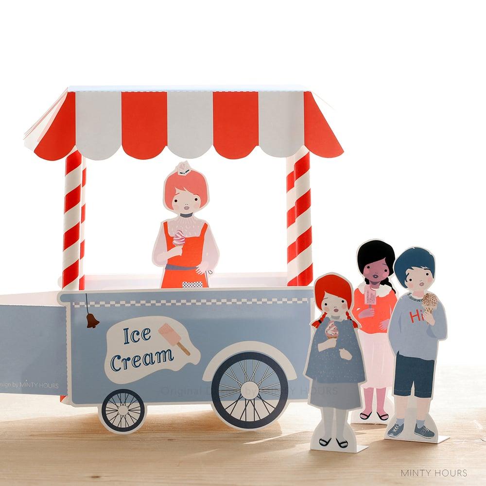 Image of La petite marchande de crème glacée