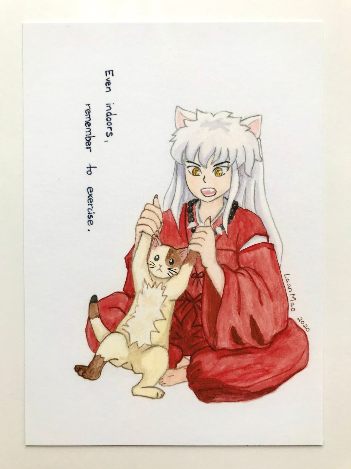 [Inuyasha] Exercise Day Print