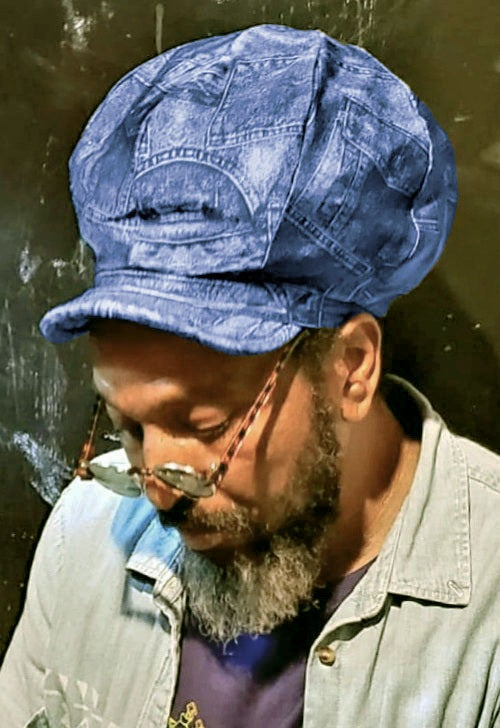 Image of Jah Roots Stretch Hat Beak (Jeans Patch)