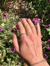 Delicate Modern Silver Eternity Ring with Water Cast Droplets