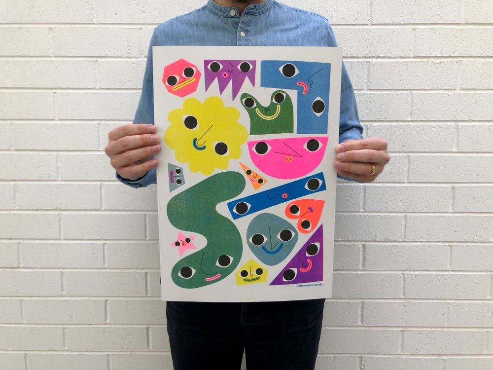 Image of Shapey Bois – A3 Riso edition of 30