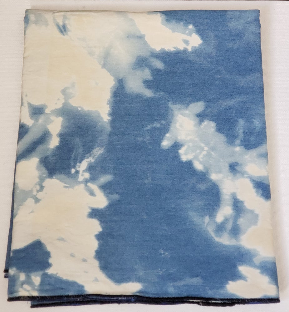 Image of Tie Dye Denim Mahogany Wrap