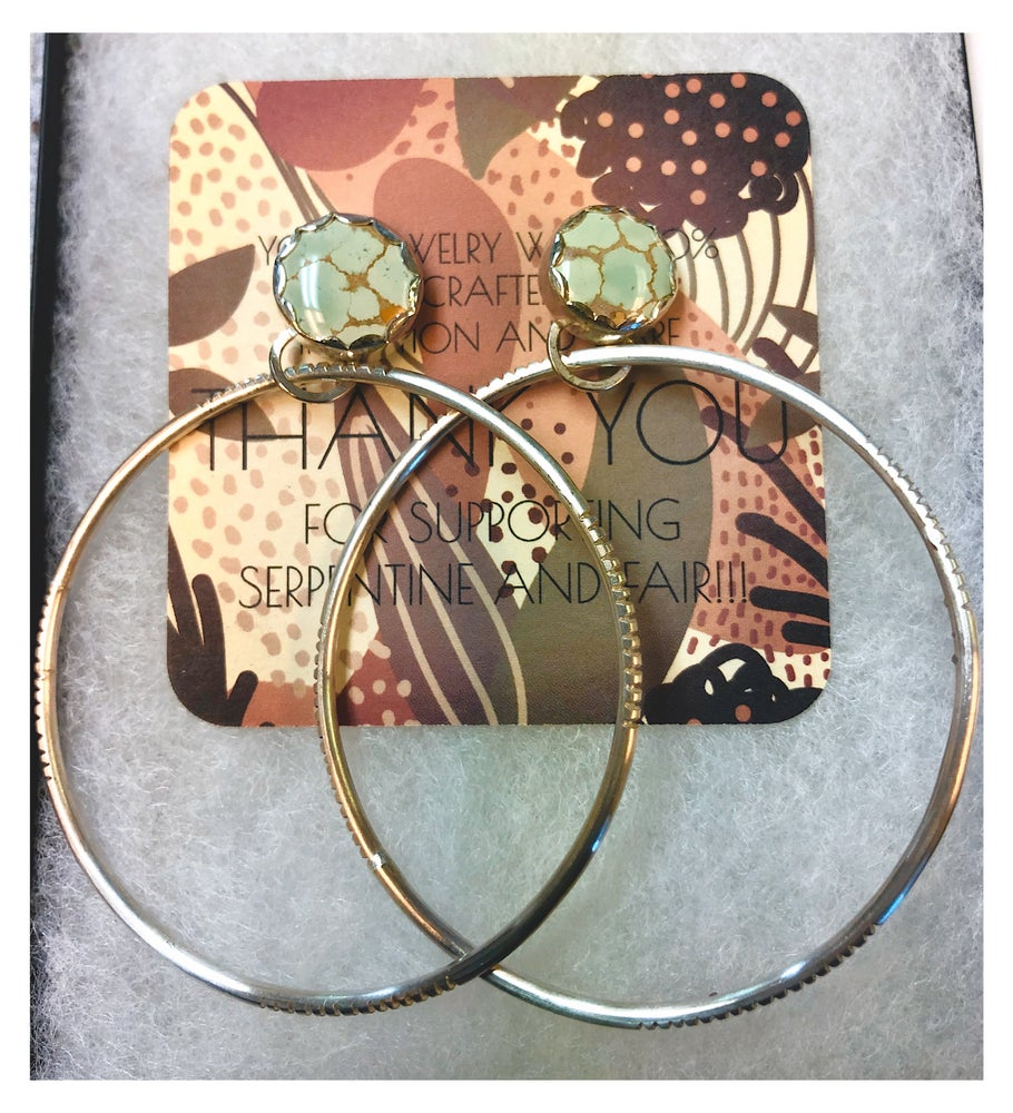 Image of Pre-Order Sand Hill Turquoise Hoops