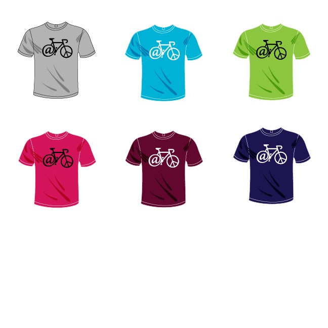 """At Peace"" Bicycle t-shirt"