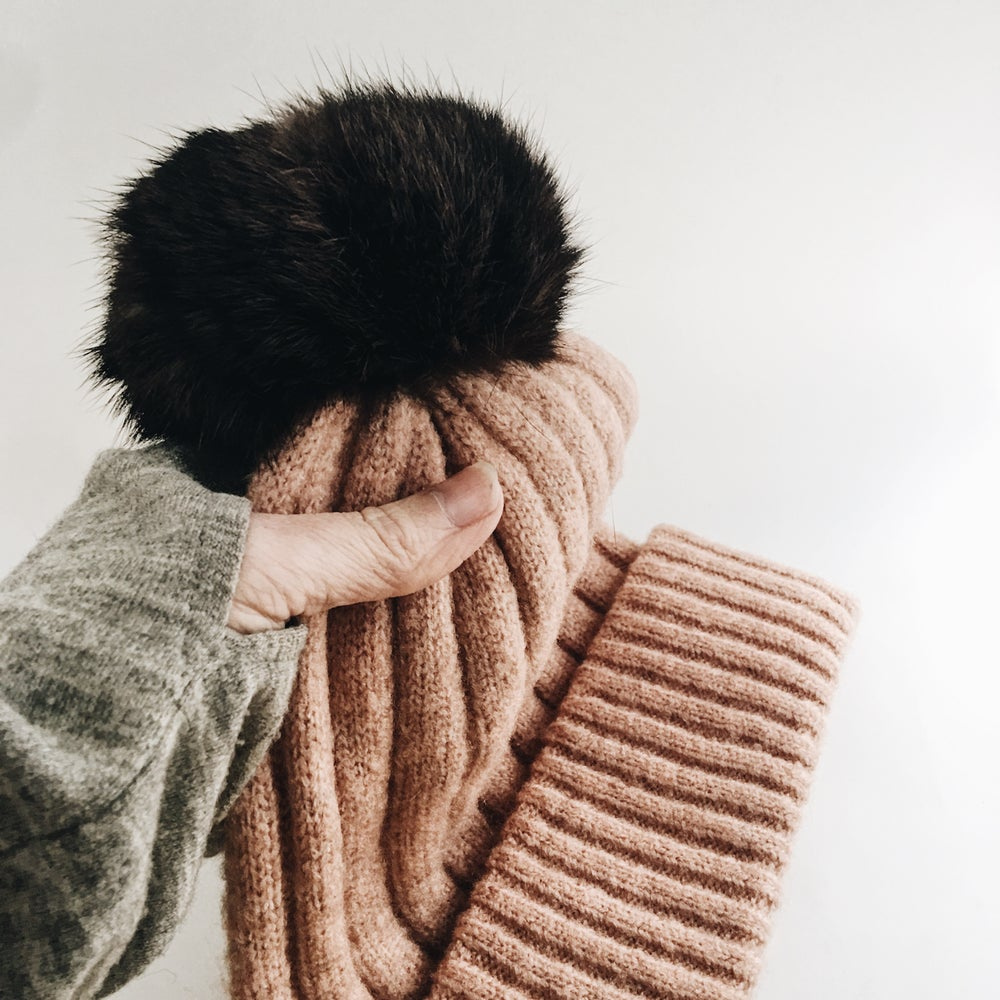Image of Blush/ nude beanie