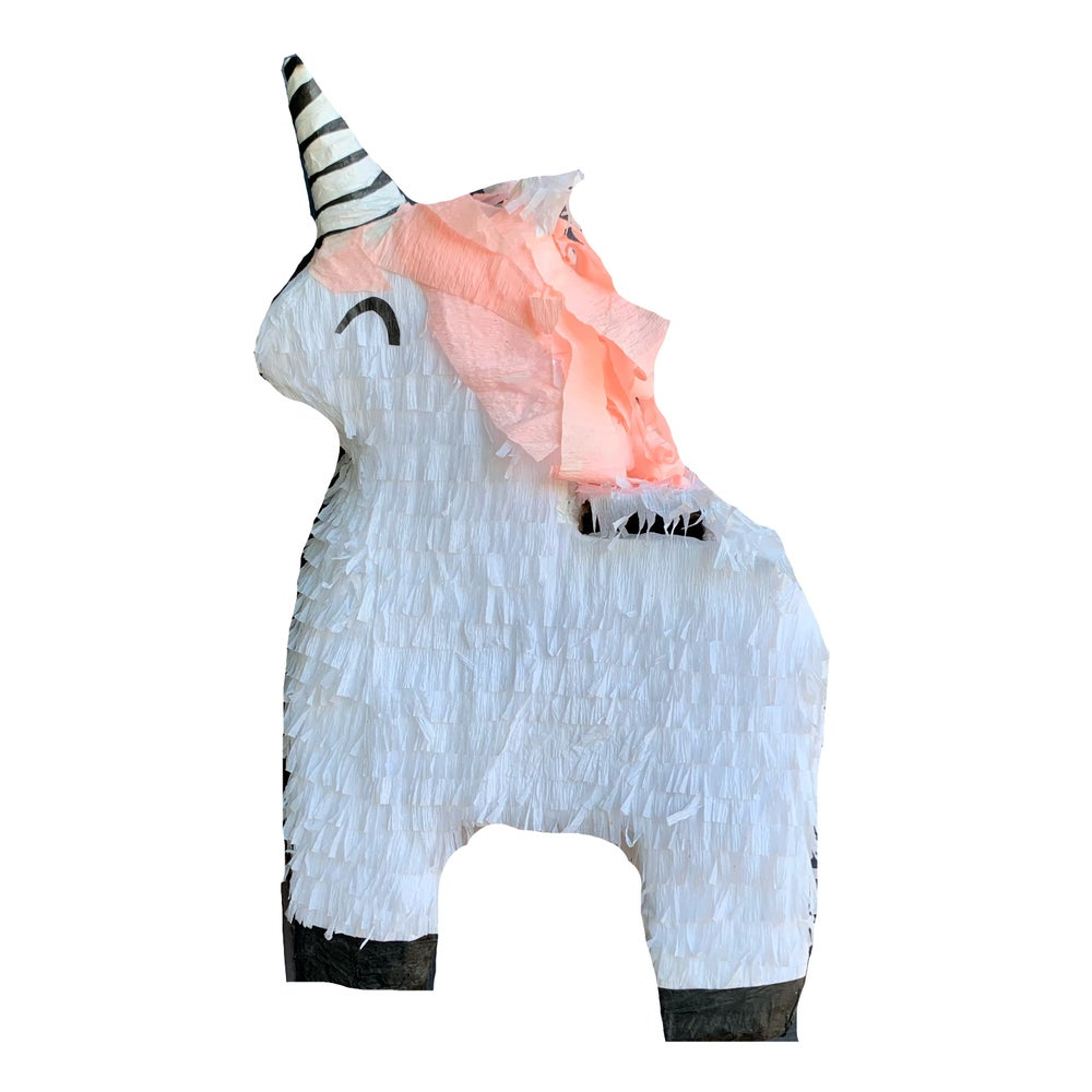 Image of White Unicorn Piñata