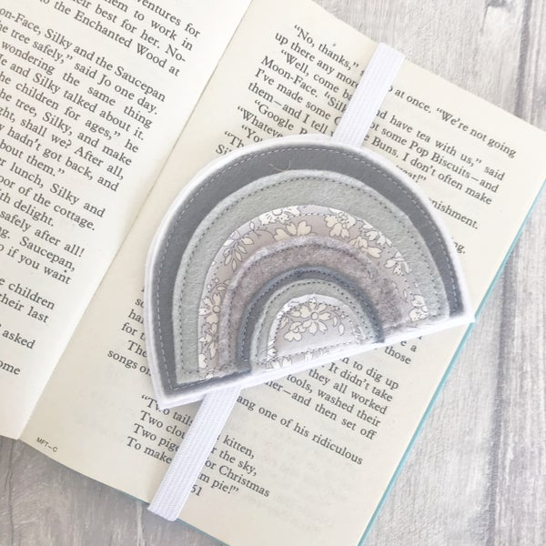 Image of Grey Rainbow Bookmark
