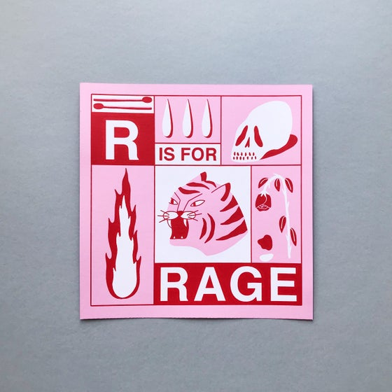 Image of 'RAGE' SCREEN PRINT