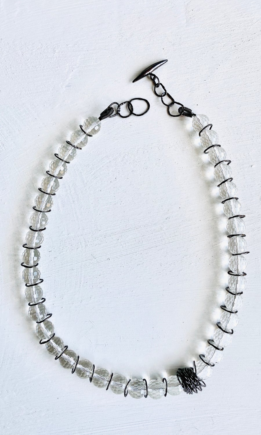 Image of Afiok beaded necklace- Clear Quartz