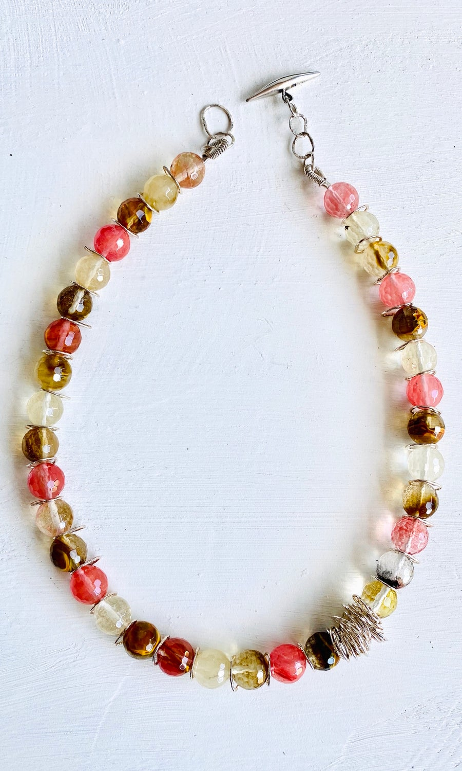 Image of Afiok beaded necklace - Mixed Quartz