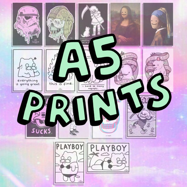 Image of the A5 prints 2.