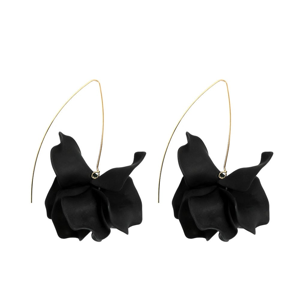 Image of Single Flower ~ Black