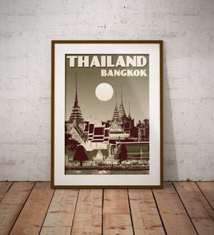 Image of Vintage poster Thailand #Royal Palace Green