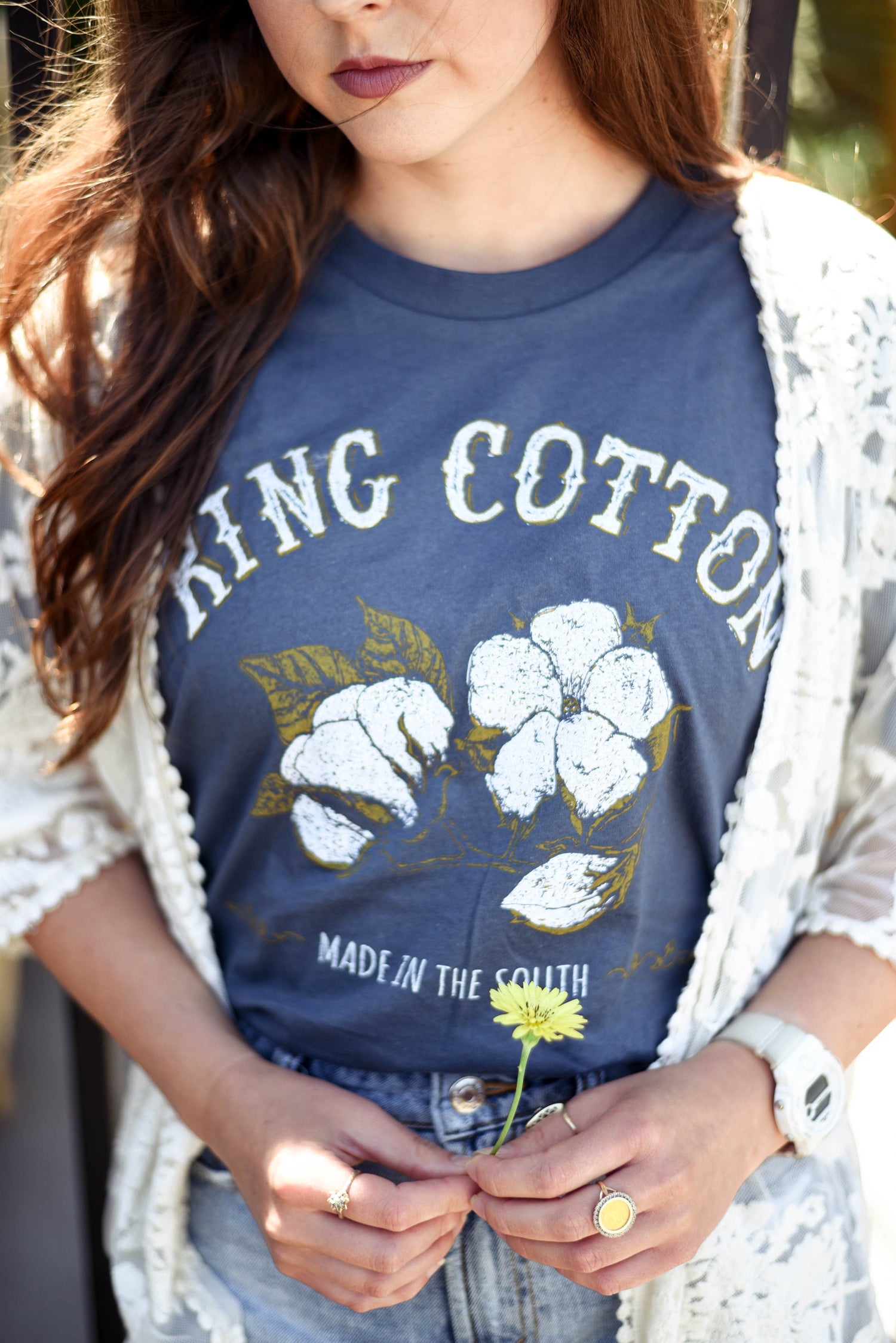 Image of Adult King Cotton Crew Short Sleeve Tee
