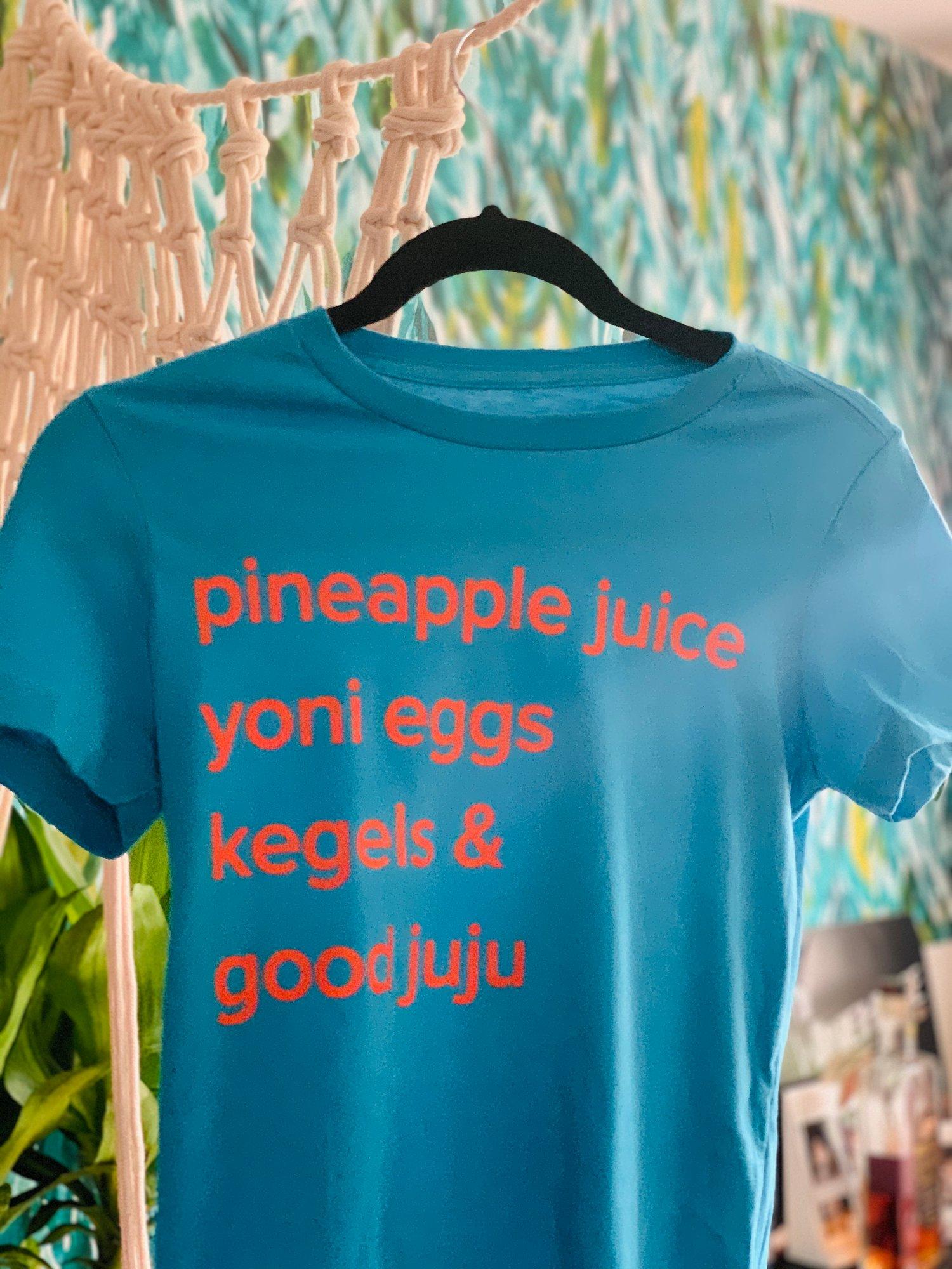 Image of Ya Health Is Ya Health tee in Aquamarine