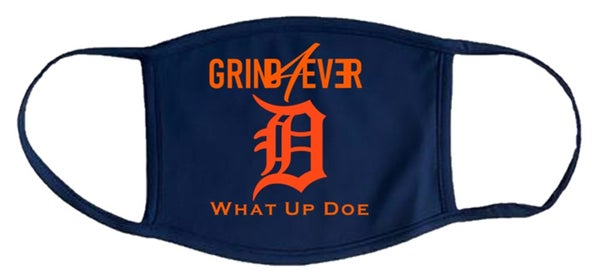 Image of GRIND4EVER DETROIT MASK - BLUE & ORANGE